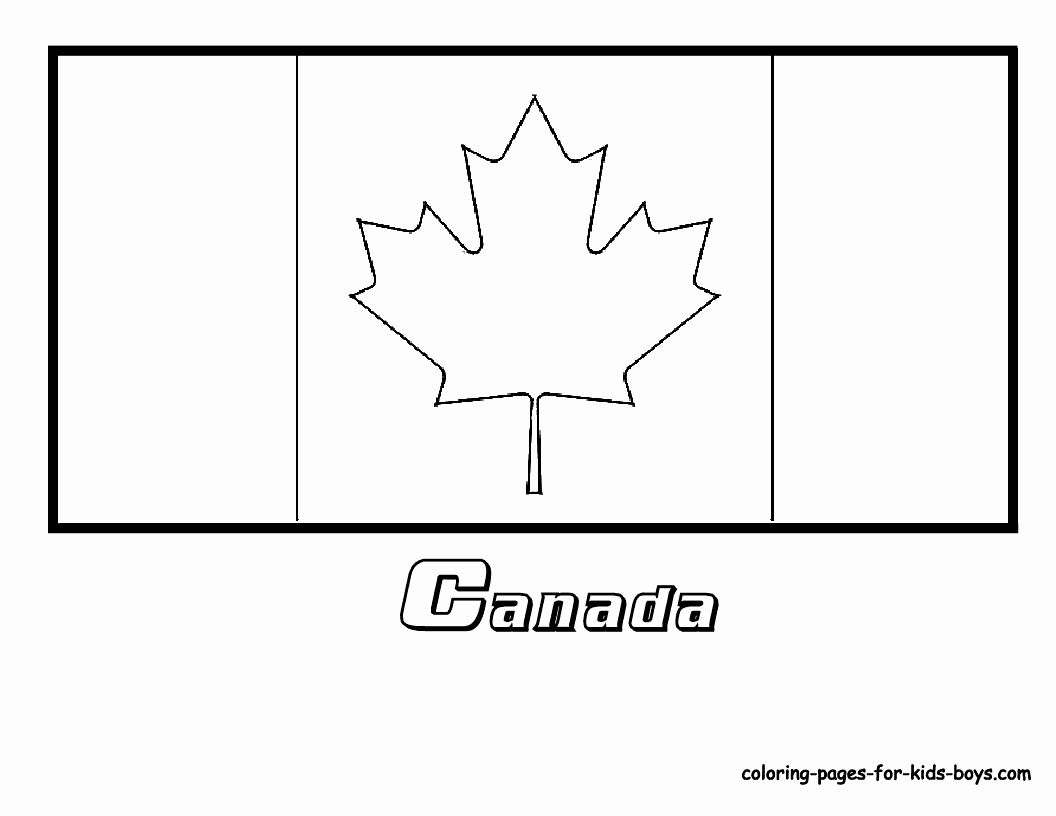 Canadian Flag Coloring Page In 2020 Flag Coloring Pages