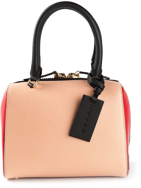 Marni contrasted handle tote