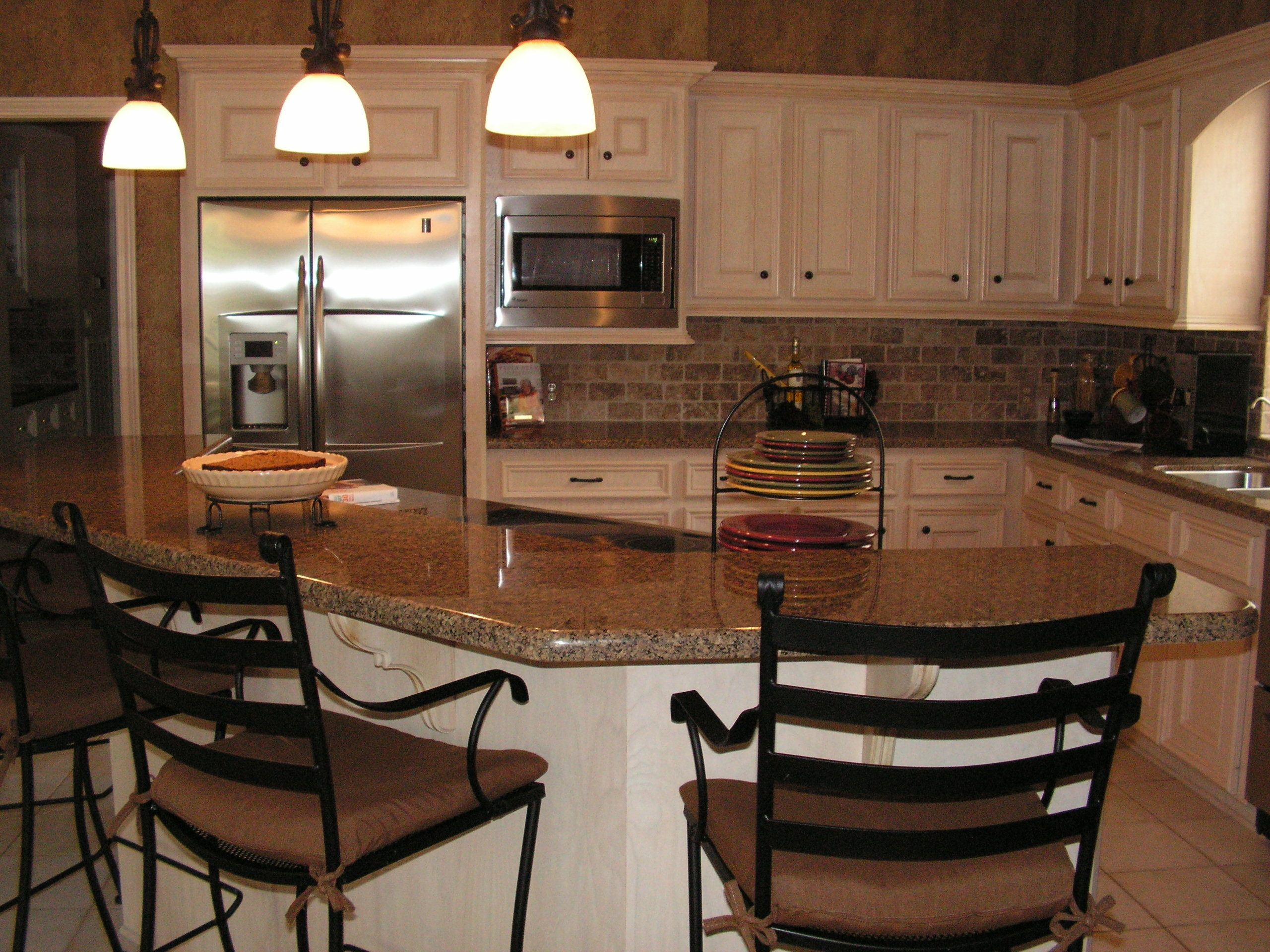 New Kitchen Remodel Kitchen Remodel With New Granite Countertops Tumbled Marble
