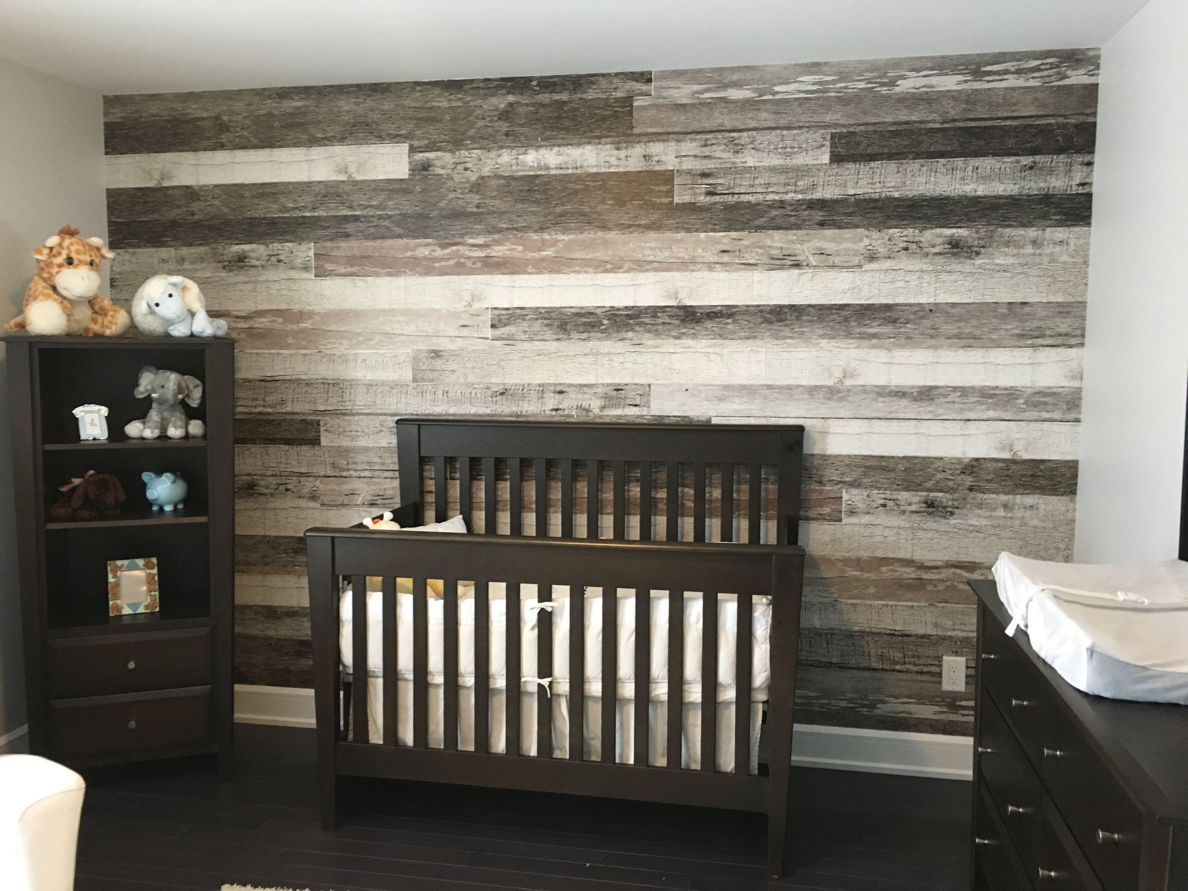 Barn Wood Wallpaper De urale inc Décoration