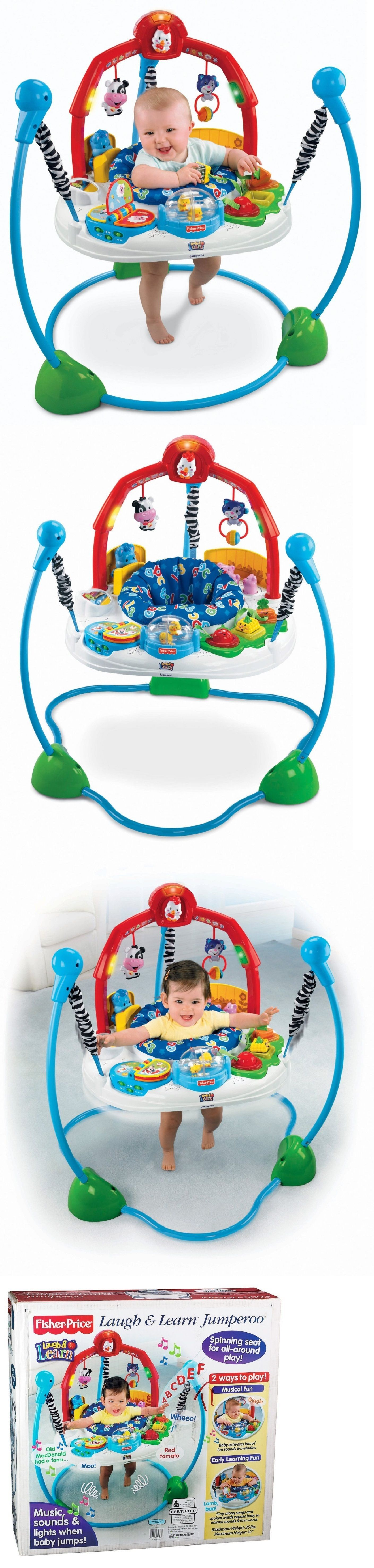 81329935f FISHER PRICE JUMPEROO LAUGH AND LEARN Music Sounds Lights Toys Farm ...