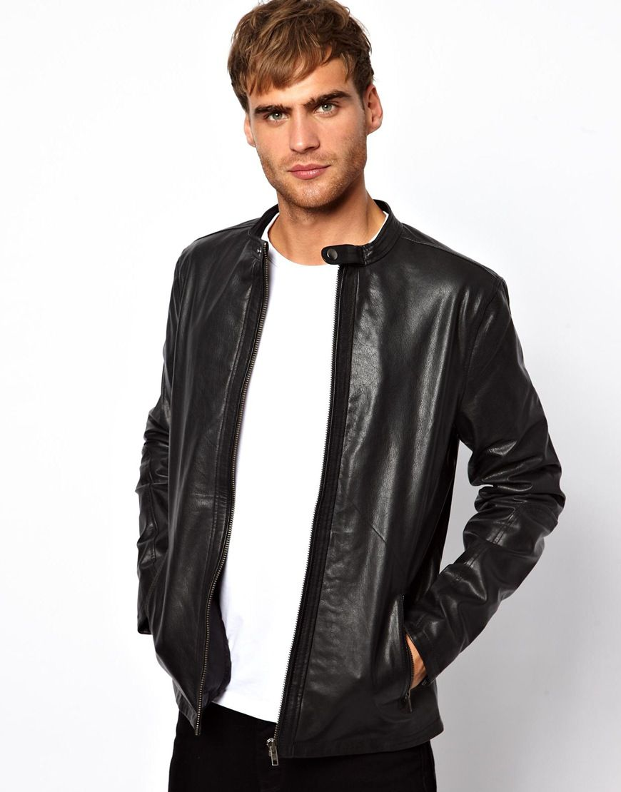 Selected | Selected Leather Jacket at ASOS | Alan leather jacket ...
