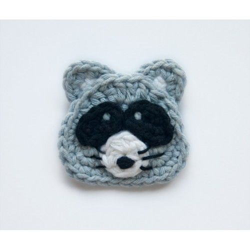 * SALE * Raccoon Applique Crochet