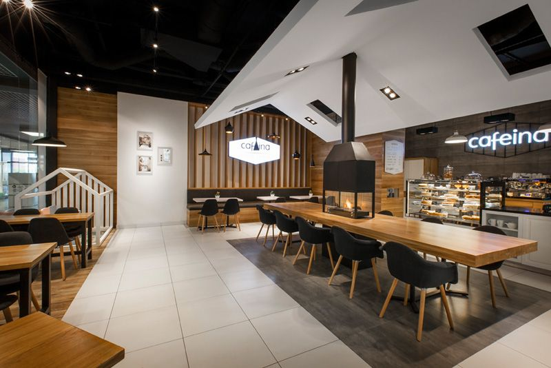 Good A Central Fireplace Provides A Warm Welcome To This Cafe Pictures Gallery