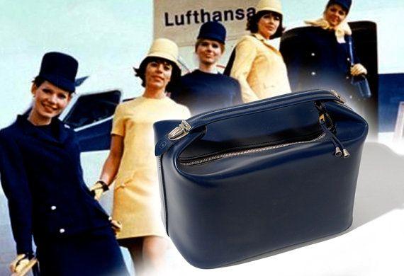 1960s Stewardess Flight bag for Lufthansa Airlines   Flight