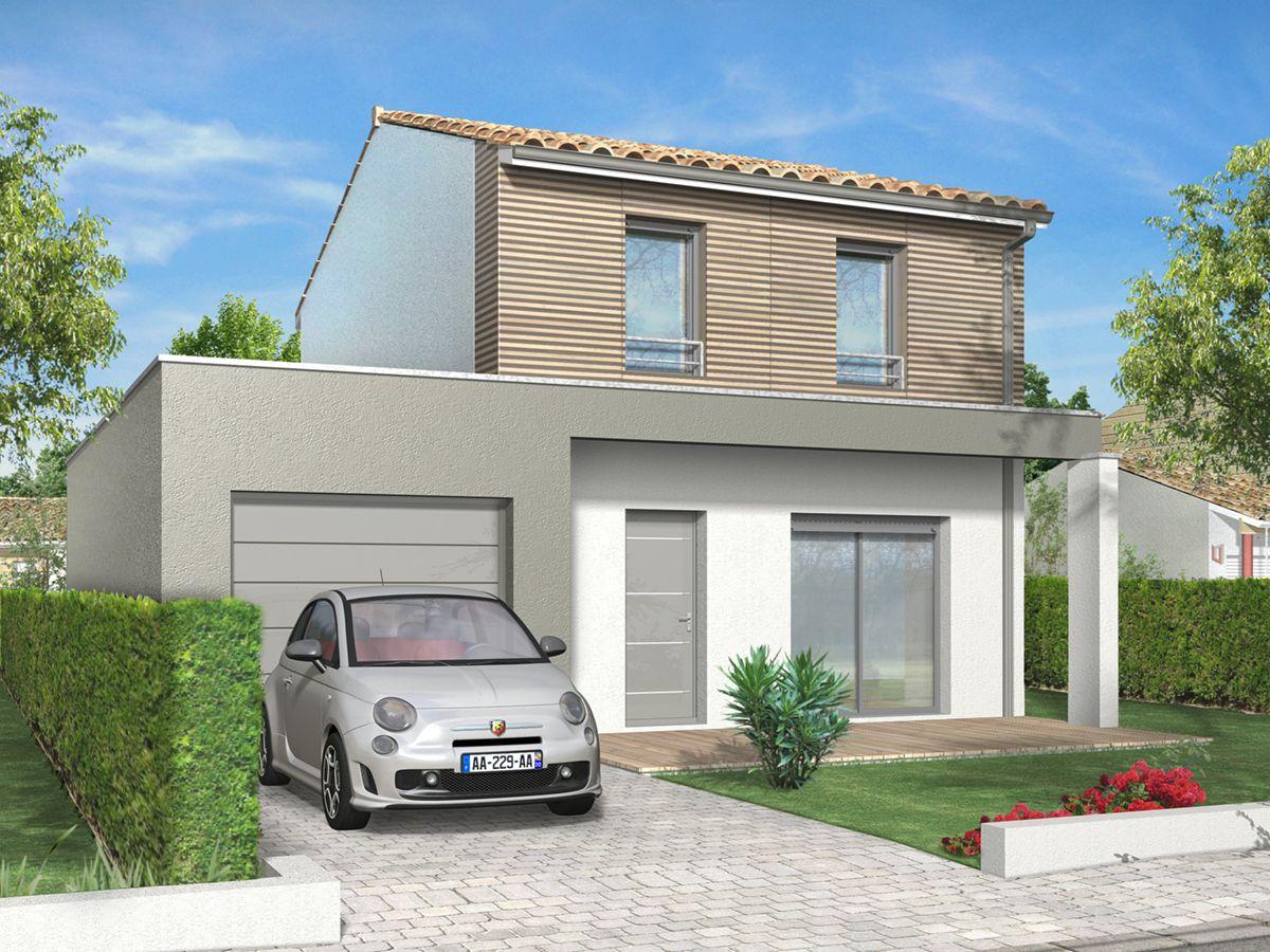 Palmeri 100 m2 garage quadri constructeur de maison for Constructeur maison traditionnelle