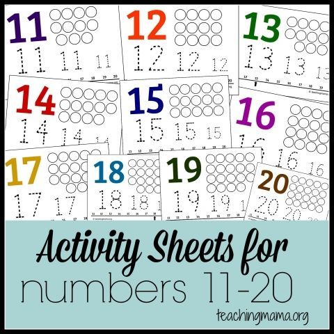 Activities for Numbers 11-20 | Preschool | Pinterest