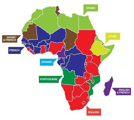 Official Languages Through Africa Maps Pinterest Language - African language map