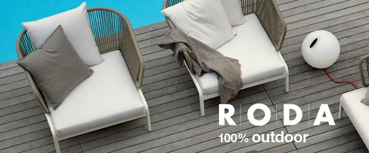 Roda 100% outdoor: seater sofas and lounge chairs