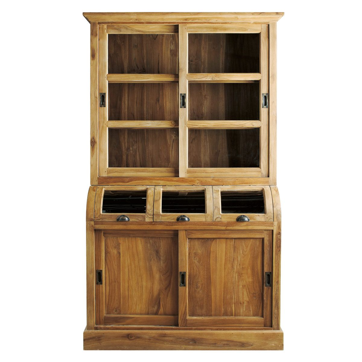 Solid teak china cabinet W 17cm | Teak, China cabinets and ...