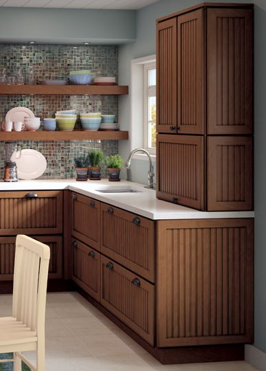 Make Your Kitchen Cabinet Designs, Planning And Remodeling Ideas A Reality  With Cardell® Cabinetry At Menards®. Bressler Maple Praline With Onyx Glaze  ...