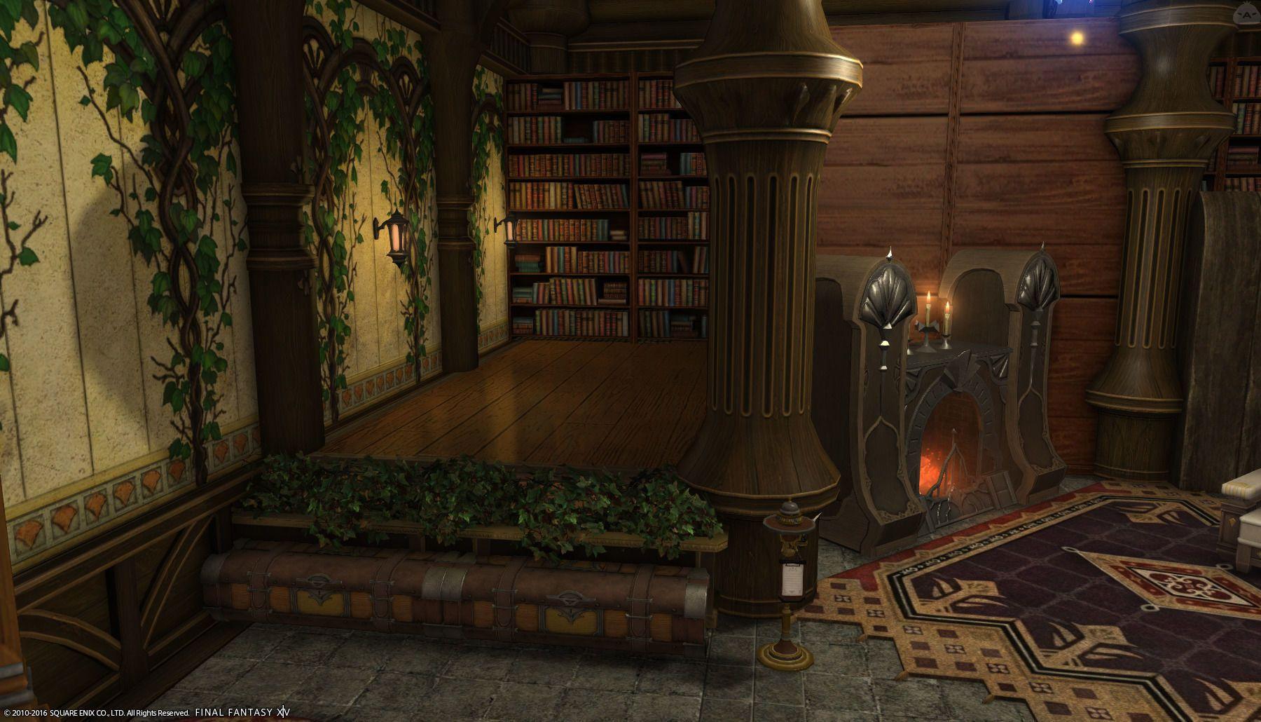 図書階段のある小部屋 | Final fantasy 14, Final fantasy xiv, Ff14