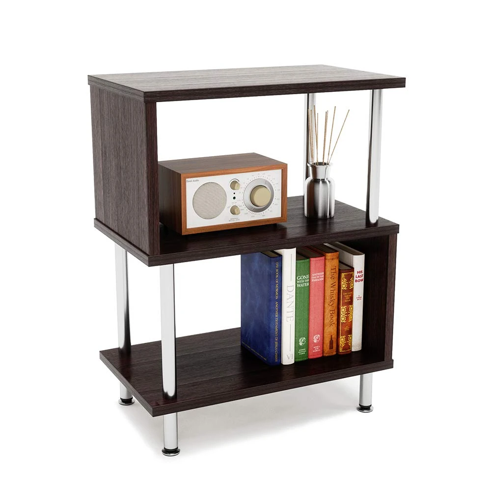 Side Table 3 Tier S Shaped Small Nightstand In 2020 Small Nightstand Shelves In Bedroom End Tables With Storage