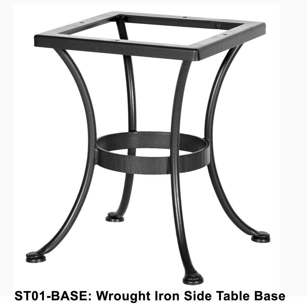 Ow Lee Standard Wrought Iron Side Table Base Com Imagens