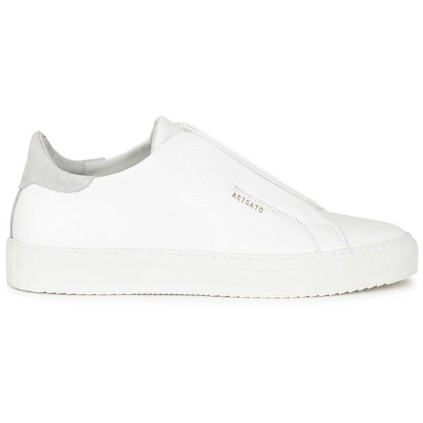 White Laceless Leather Trainers