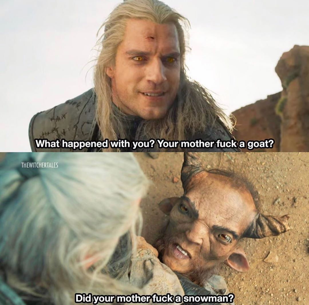 Geralt Is Joking On Silvan The Witcher Movie The Witcher Memes The Witcher Books
