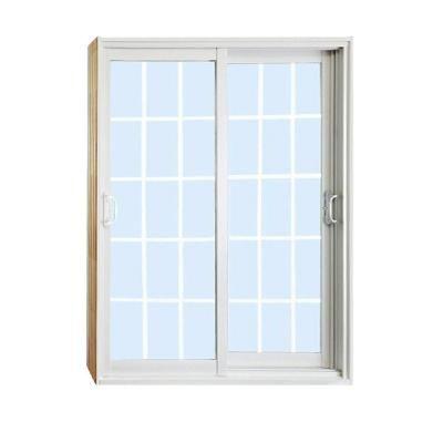 Stanley Doors 72 In X 80 In Double Sliding Patio Door With 15 Lite Internal White Flat Grill 600003 Double Sliding Patio Doors Sliding Patio Doors Patio Doors