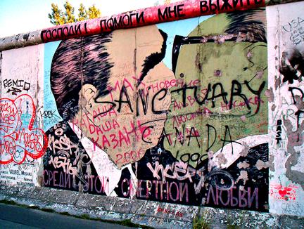 Graffiti Sanctuary Berlin Wall Berlin Wall East Side Gallery Berlin