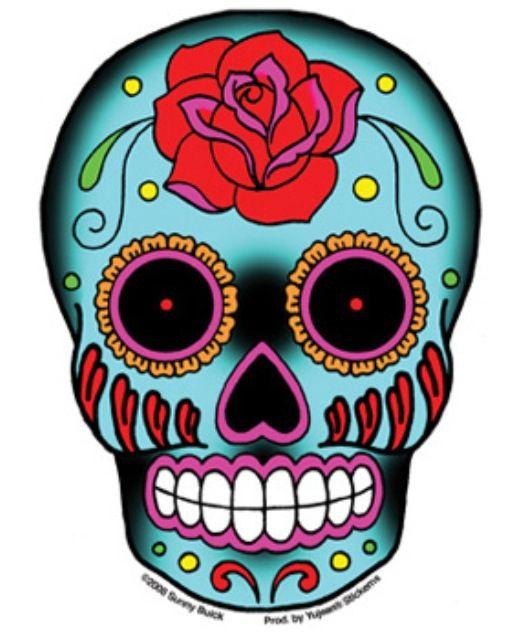 Day Of The Dead Clip Art Sugar Skull Tattoos Skull Sticker Candy Skulls