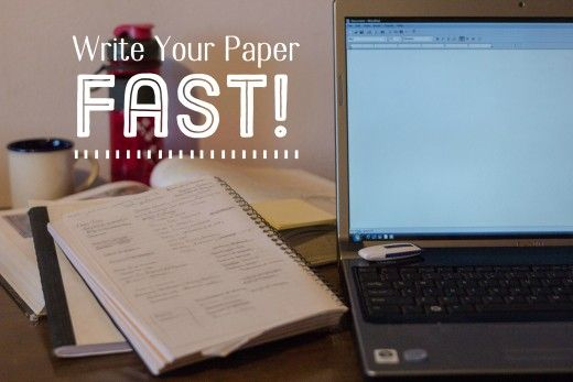How to write your dissertation quickly