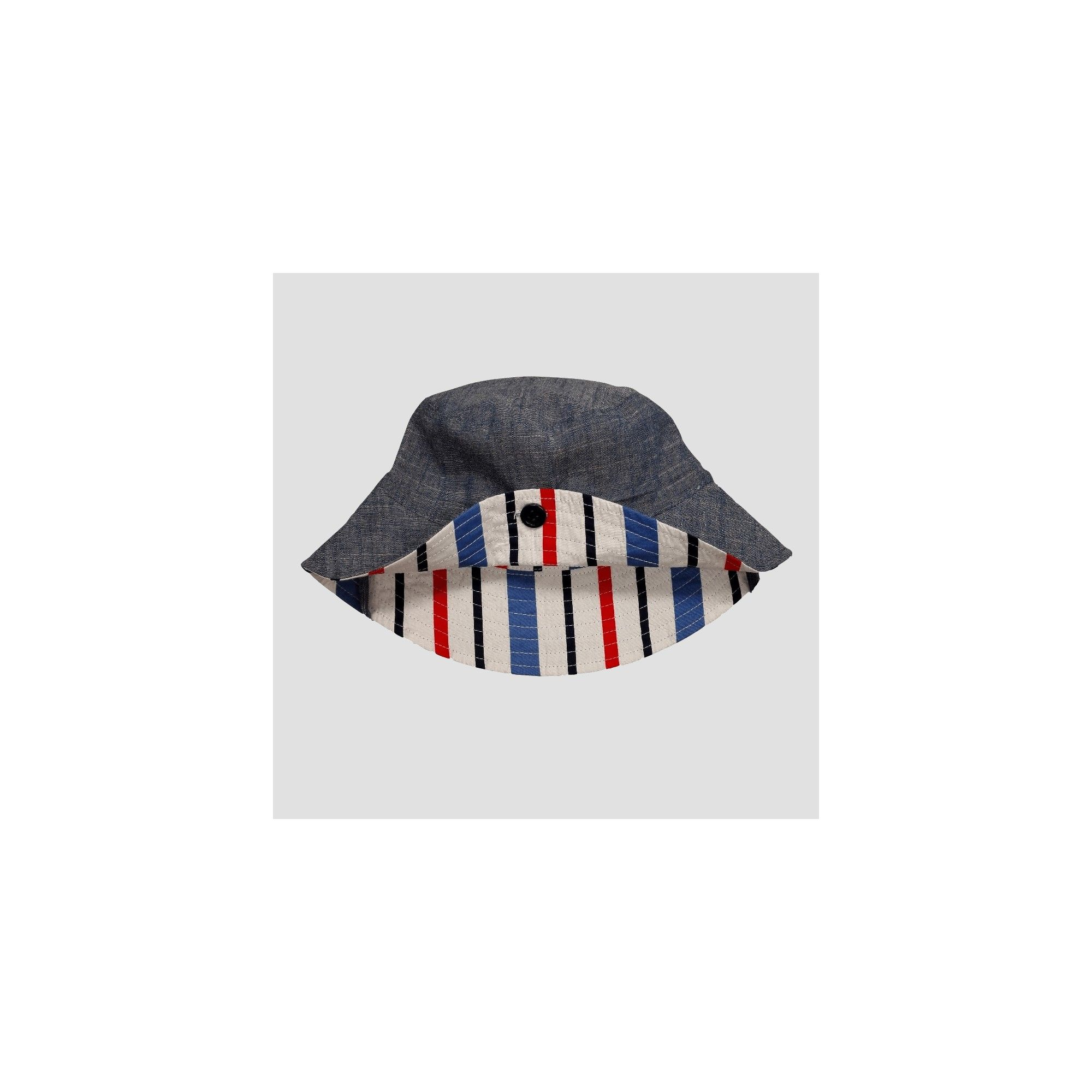 b8d894b6 Toddler Boys' Chambray & Stripe Reversible Bucket Hat - Cat & Jack Blue  2T-5T