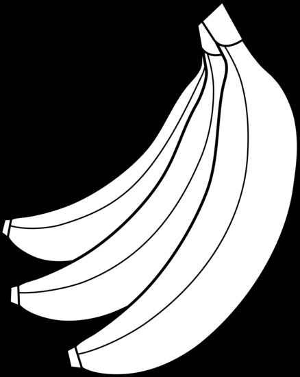 Colorable Bunch Of Bananas Free Clip Art Clip Art Free Clip Art Silhouette Clip Art