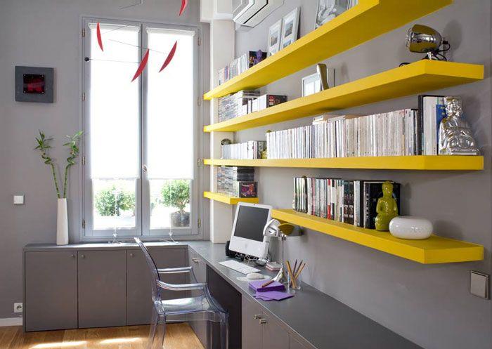 Buckboard Hill Interiors Office Home Office Shelves Yellow Home Offices Home Office Storage