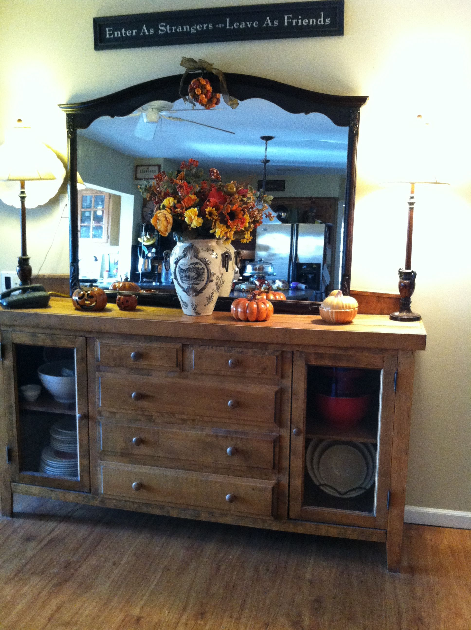fall buffet table