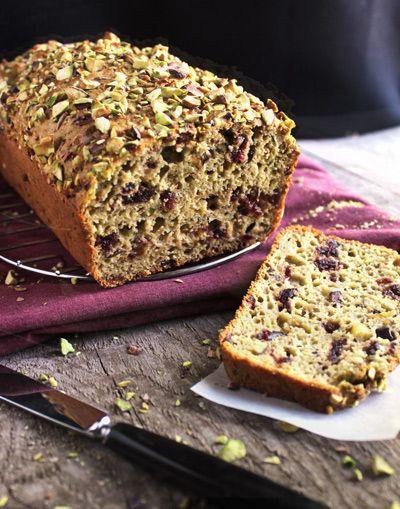 Whole Wheat Cranberry Pistachio Loaf - FoodFaithFitness