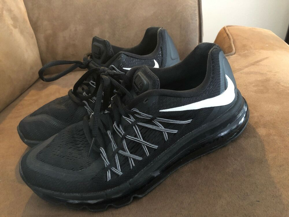 buy popular aecce 2abd8 Nike Air Max 2015 Black White 705457 002 Youth Size 6 Women s Size 7.5 -