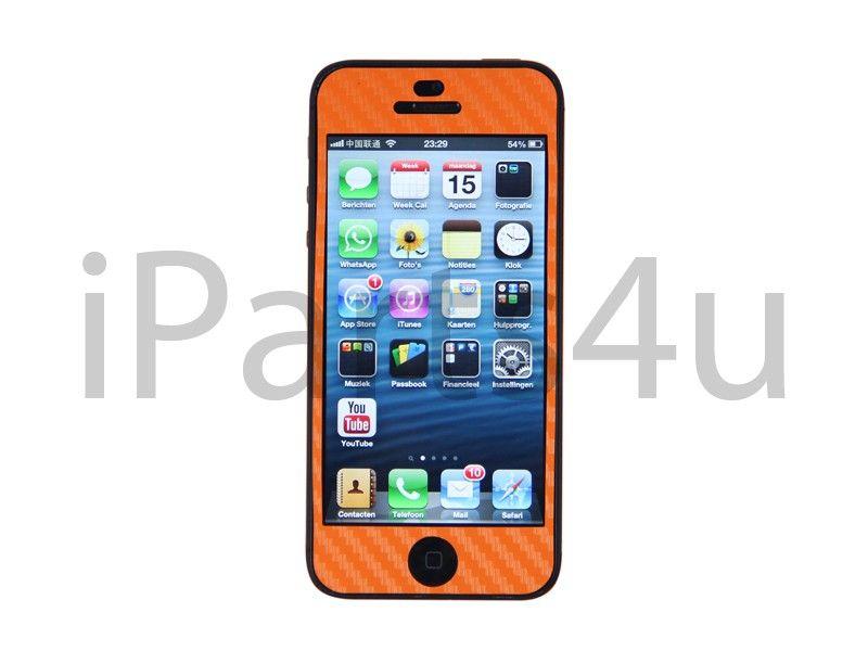 iPhone 5 Carbon Skin Orange iPad Zubehör, iPhone Zubehör und iPod Zubehör    Gut und Billig