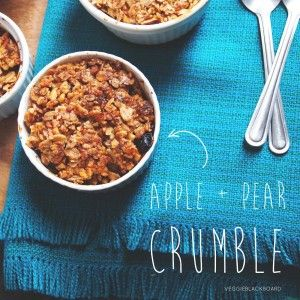 Apple & Pear Crumble (added cranberries)