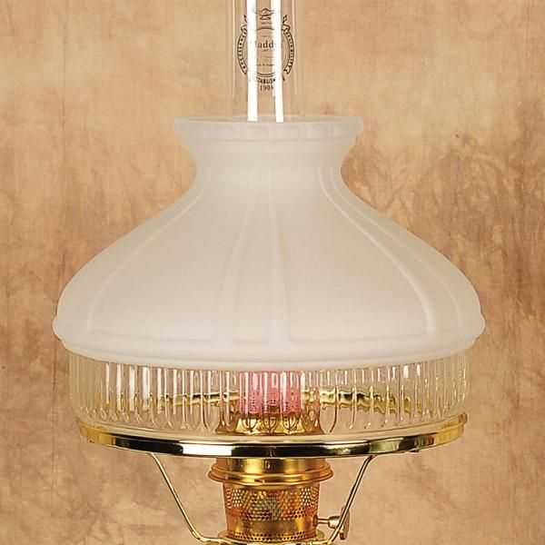 Aladdin White Top Glass Oil Lamp Shade Lamp Oil Lamps Candle Lamps