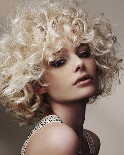 Kurz Blonde Curly Dauerwellen Friede Freude Pinterest