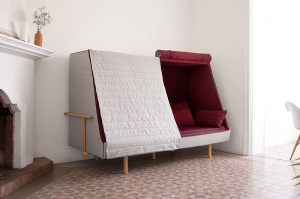 Want A Sofa That Doubles As A Tent Couches For Small Spaces Cabin Furniture Cabin Sofa