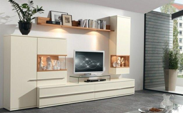 Wonderful Ikea Wohnwand Aterno Musterring Cremeweiß Locayo.de Amazing Pictures