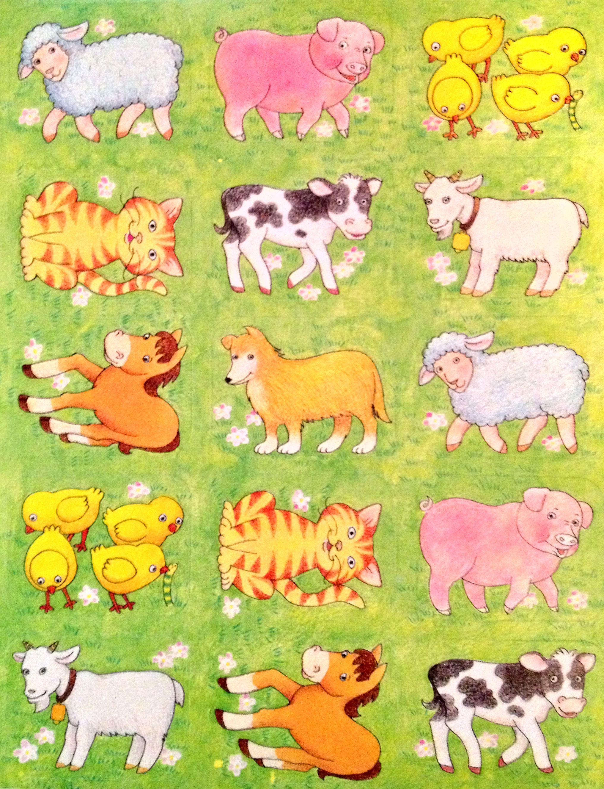 Farm animal stickers   Jewel's 3rd bday