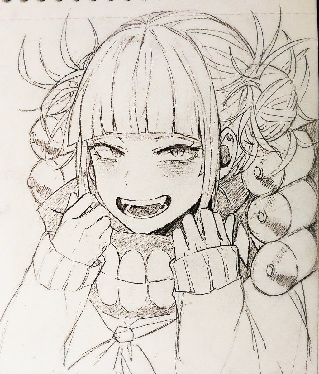 Himiko Toga Anime Character Drawing Character Drawing Pikachu Coloring Page