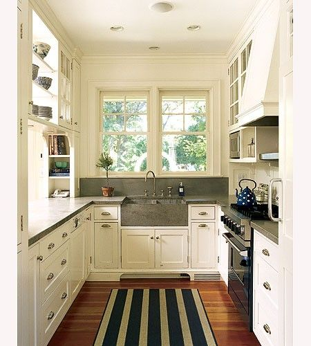 Awesome Very Small White Kitchen 5 Ways To Create A Successful Galley Style Kitchen  Layout Part 28