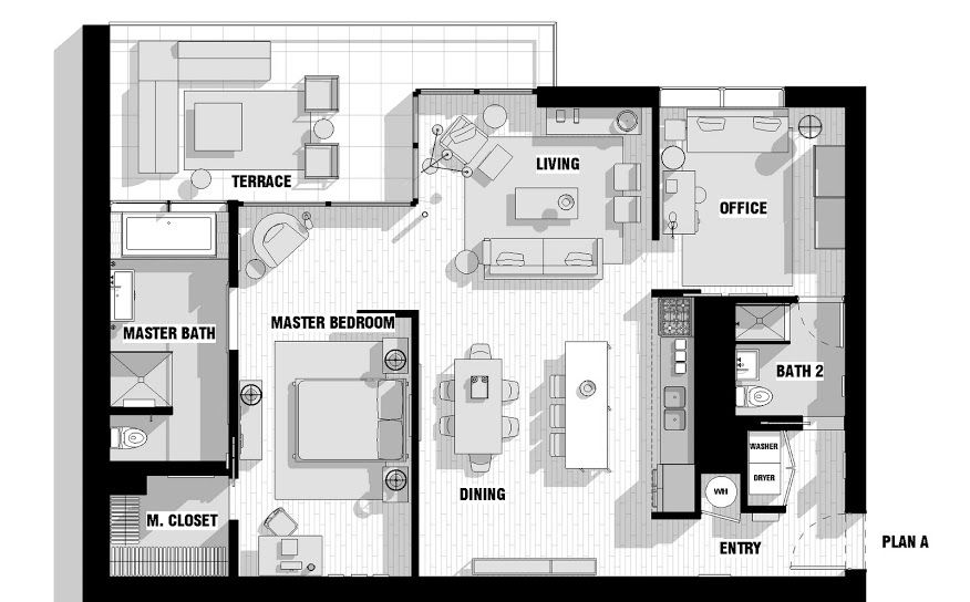 resultado de imagen para loft architectural plan apartment rh pinterest es