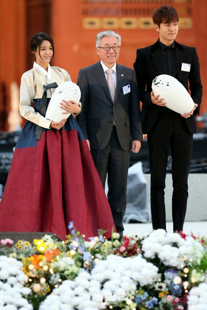 Lee Min Ho at 2016-2018 Visit Korea Year Proclamation Ceremony,  20151106.