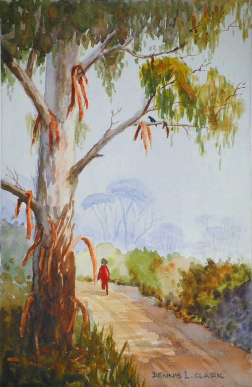 How To Paint A Blue Gum Tree In Watercolour Painting Art
