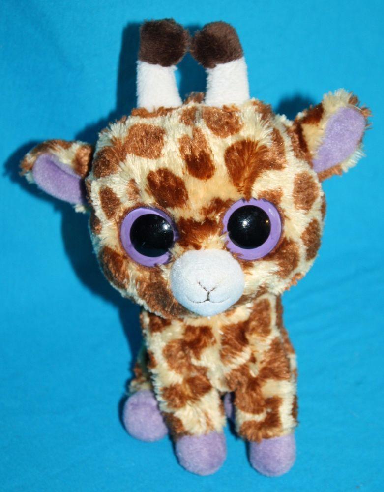 d0c94b38eee Ty Beanie Babies Big Purple Eyes Boos SAFARI the Baby GIRAFFE 5