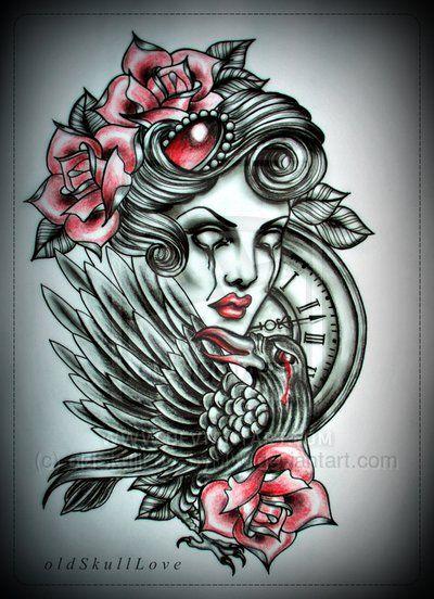 Tattoo Design By Oldskulllovebymw On Deviantart Vintage Tattoo Design Tattoo Style Art Neo Traditional Tattoo
