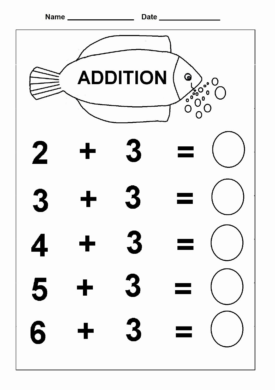 Addition Worksheets Kindergarten Activities 2 In
