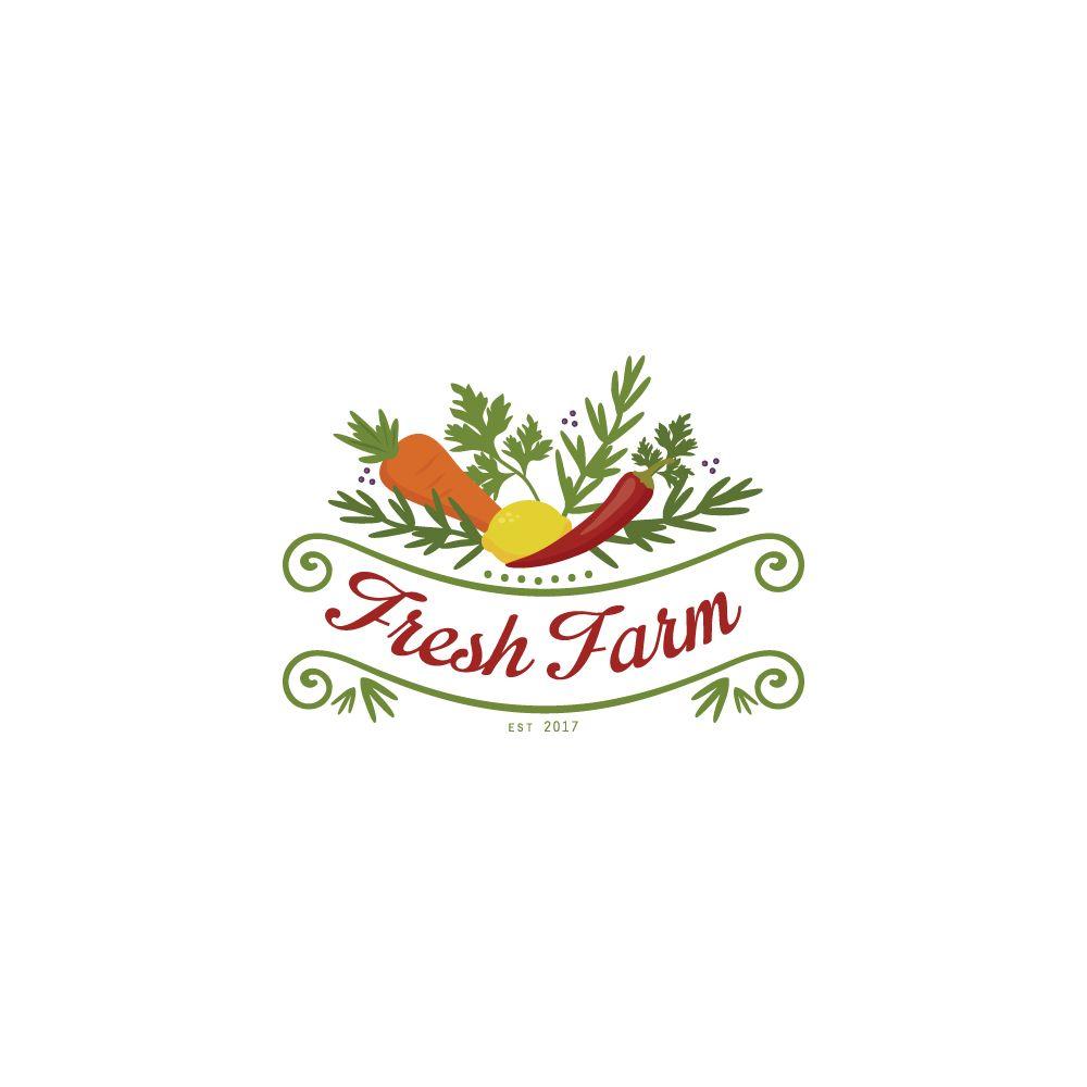 Fresh Farm Logotarget Farm Logo Design Farm Logo Logo Design