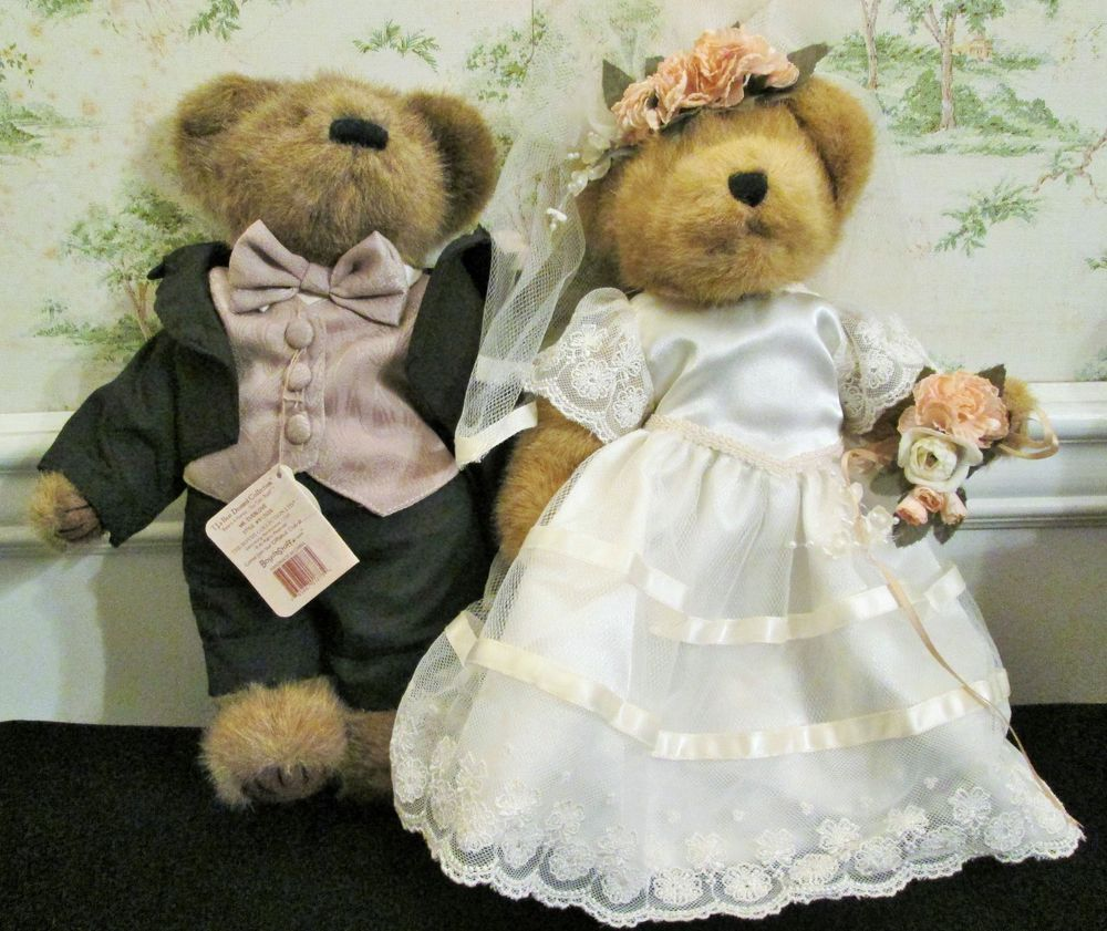 3824a67ff92 Boyd s Bear Bride And Groom Mr And Mrs Everlove Tags Plush Stuffed Animal   Wedding
