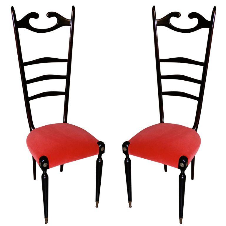 Pair of 40's Italian Chairs