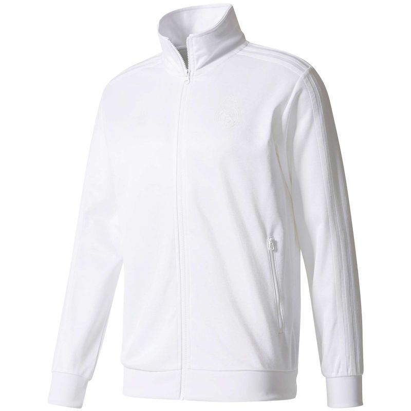 0bb53a7f3f9 Real Madrid adidas Originals Full-Zip Track Jacket - White ...