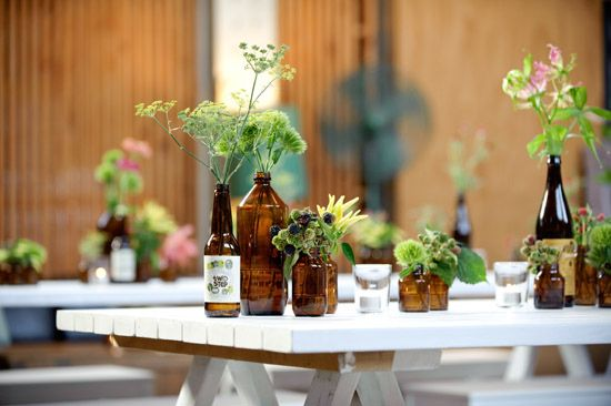 Cheap Wedding Ideas Melbourne: Irish Pub/rustic-nautical Table Centerpieces